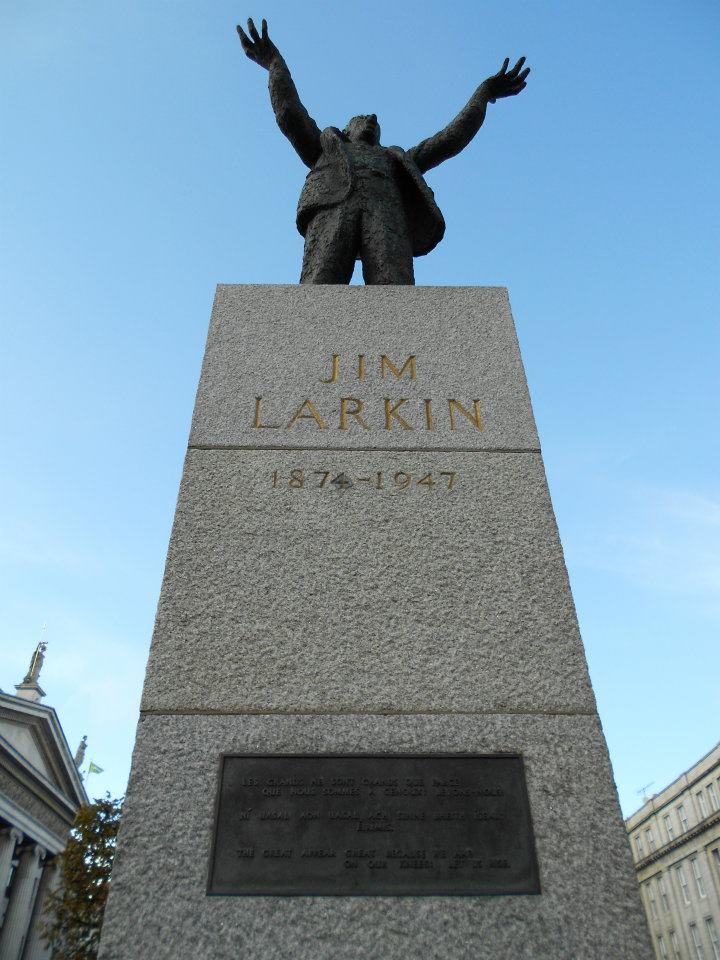 Jim Larkin Statue, O'Connell Street, Dublin - Photo by Emily O'Sulivan