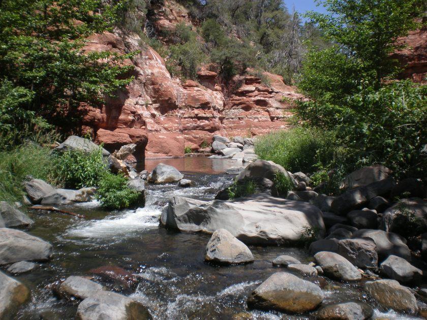 The World According to Oak Creek, Oak Creek Canyon, Arizona - Photo by Ken Swearengen