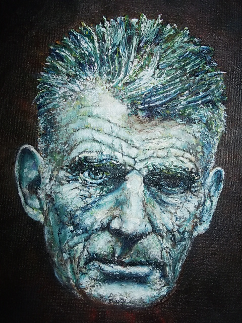 Oil Painting of Samuel Beckett