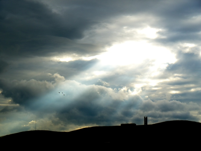 Crepuscular Rays On Divis Mountain - Photo by Eamonn Stewart