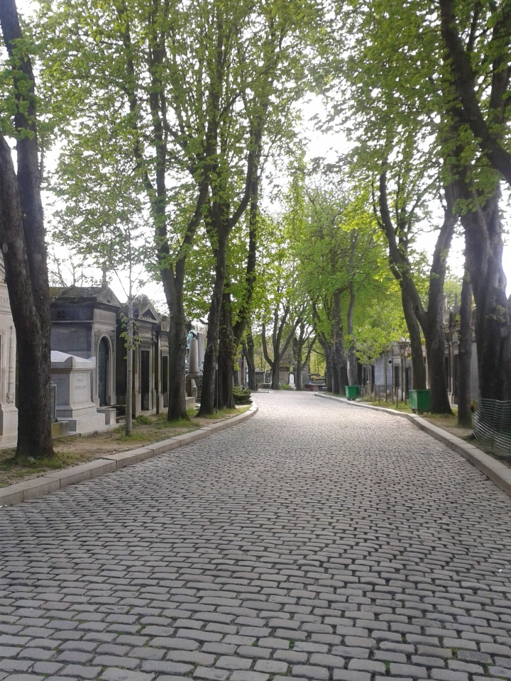 Pere La Chaise Avenue - Photo by Amelia Edwards