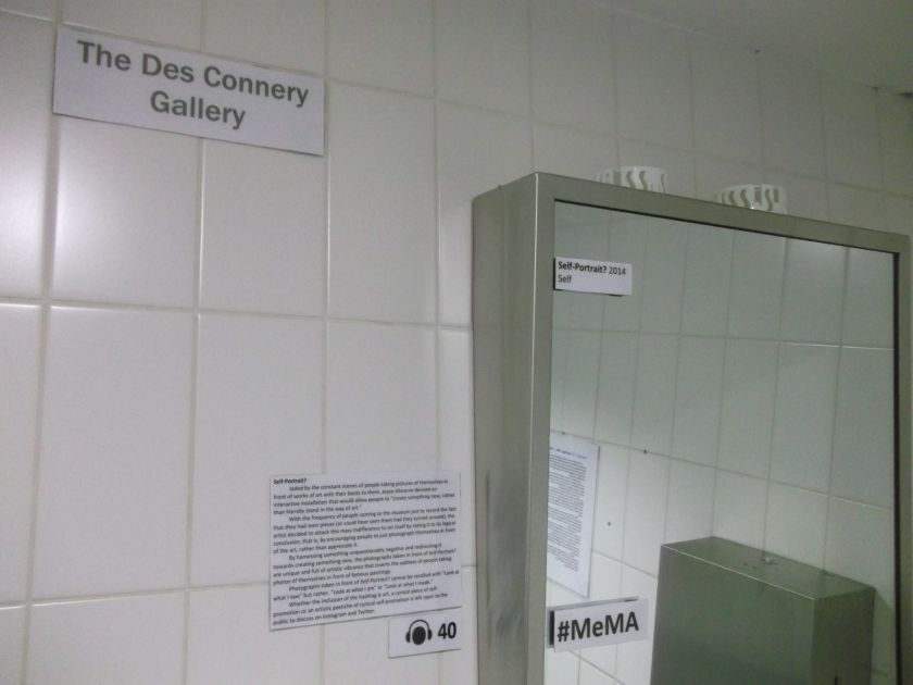 The Des Connery Gallery, showing the work Self-Portrait